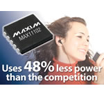 MAX11102 Family: 3/2Msps, 2-/1-channel, 12-/10-/8-bit ADCs extend battery life