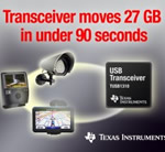 TI delivers industry's first descrete SuperSpeed USB 3.0 transceiver
