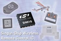 SILICON LABS LAUNCHES WIRELESS REMOTE CONTROL ON A CHIP