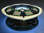 Roulette tables provide tactile feedback experience