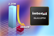 Intersil's 12-Bit 500MSPS A/D Converter Delivers Industry's Lowest Power Consumption, Most Compact Package