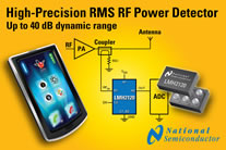 National Semiconductor - Highest-Precision Linear RMS RF Power Detector for 3G/4G Handsets