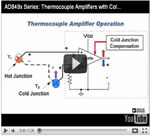 AD849x Series: Thermocouple Amplifiers with Cold Junction Compensation
