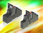 Din-rail sockets for PT, XT and RT series relays