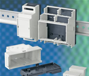 DIN-Rail Cases Allow Multiple Connections