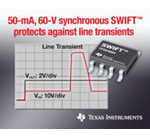 TI's 50-mA, 60-V synchronous step-down converter simplifies industrial power design