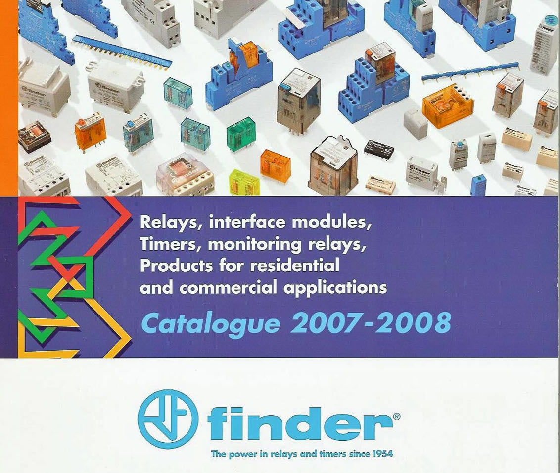 Finder Plc News From Escom Power Relay Publishes 2007 08 Catalogue