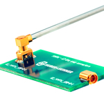 Coaxial to PCB connector system from HUBER+SUHNER can handle frequencies to 67GHz