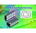 Vishay Intertechnology's New 4-Line Bus Port Protection Array Provides Low Typical Capacitance of 0.6 pF and Leakage Current of < 0.1 µA in New Ultra-Compact LLP2510 Package Featuring Low 0.55 mm Profile