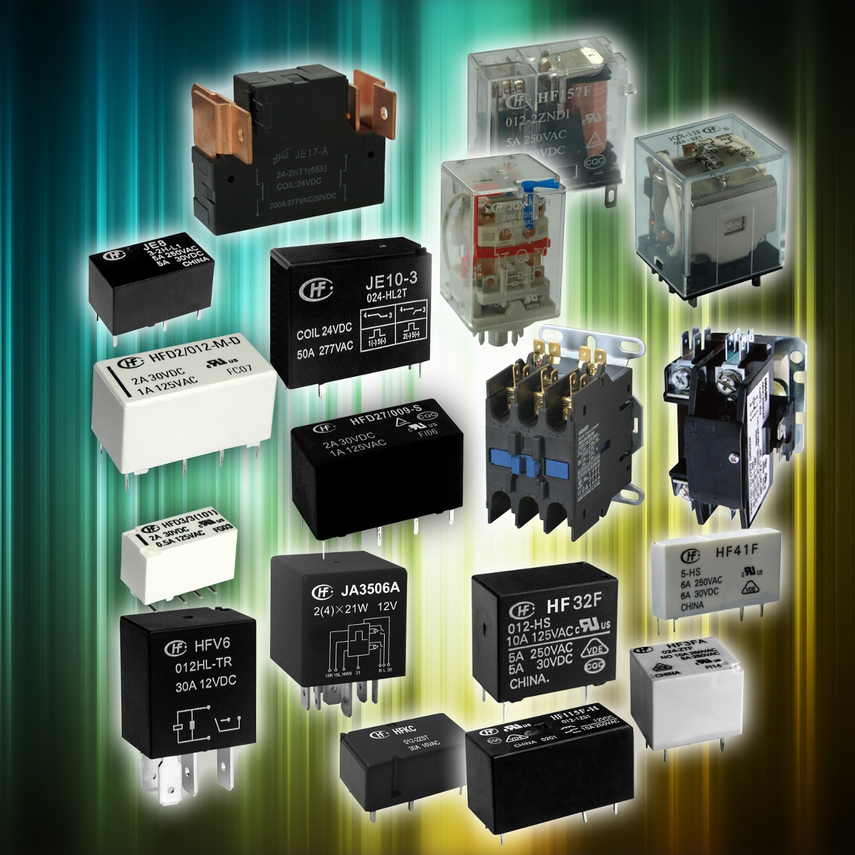 Complete Range of HONGFA Relays Available from Transonics - 160 series of relays - 40,000 different versions available