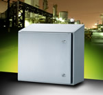 IP66 stainless-steel wall-mount enclosure is designed to withstand washing down