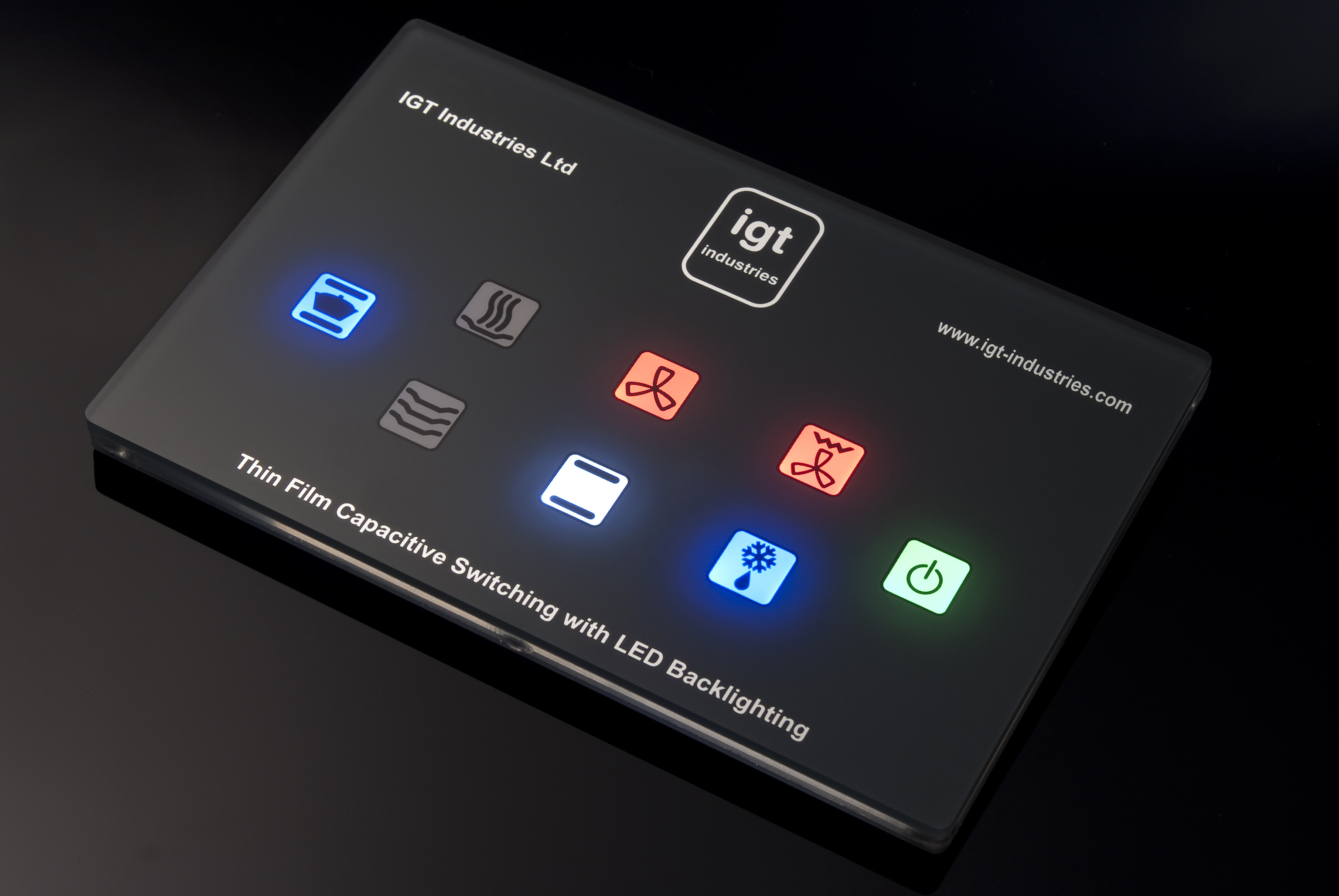 Igt Custom Capacitive Touch Panels Feature Multi Colour