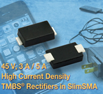 New 45 V TMBS Trench MOS Barrier Schottky Rectifiers from Vishay