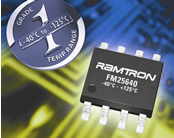 Ramtron upgrades 64-kilobit serial FRAM memory to +125ºC for demanding automotive systems