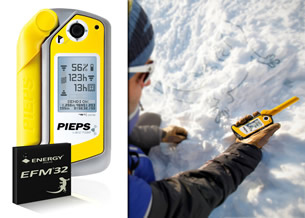 PIEPS Selects Energy Micro EFM32 Gecko MCU For Market's First GPS Avalanche Monitor