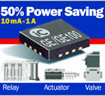 PWM driver halves the power dissipation of solenoids, valves, and actuators