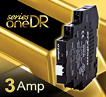 Crydom Announces New SeriesOne DR 3 Amp AC And DC Output DIN Rail Mounted Solid State Relays