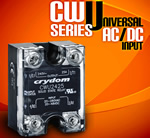 Crydom Announces the Addition of a Universal AC/DC Input for its CW Series of High Performance Solid State Relays
