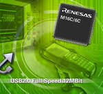 Renesas Technology releases M16C/6C microcontroller with integrated USB 2.0 interface and up to 512kB on-chip flash memory