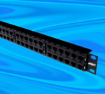 High-density 48-port UTP patch panel from Tyco