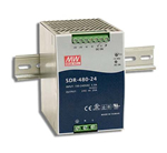 480W High Efficiency Slim DIN Rail Power Supplies suitable for marine and semi-conductor related usage